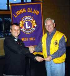 Lion Marius recognized for 20 years of Lionism