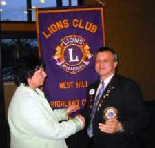 Lion Terry recognized for 30 years of Lionism
